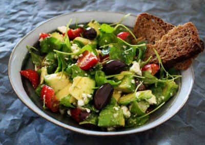 Avacado Greek Salad