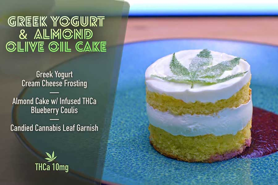 Cooked with Cannabis almond cake
