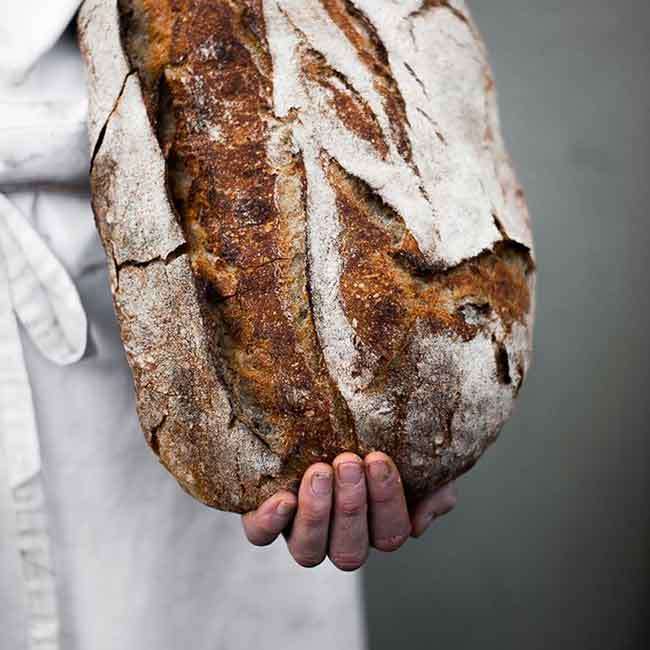 picture of hand holding bread from Instagram